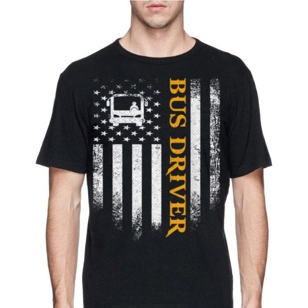 Bus Driver American Flag Patriotic shirt