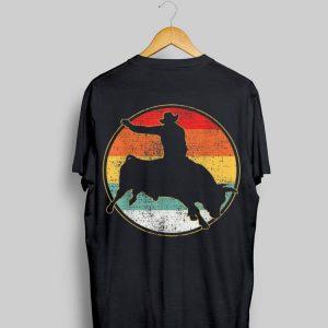 Cowboy Riding Bull Vintage Circle shirt