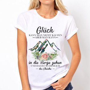 Damen Gluck Kann Man Nicht Kaufen Aber man Kann Floral Das Gleiche shirt