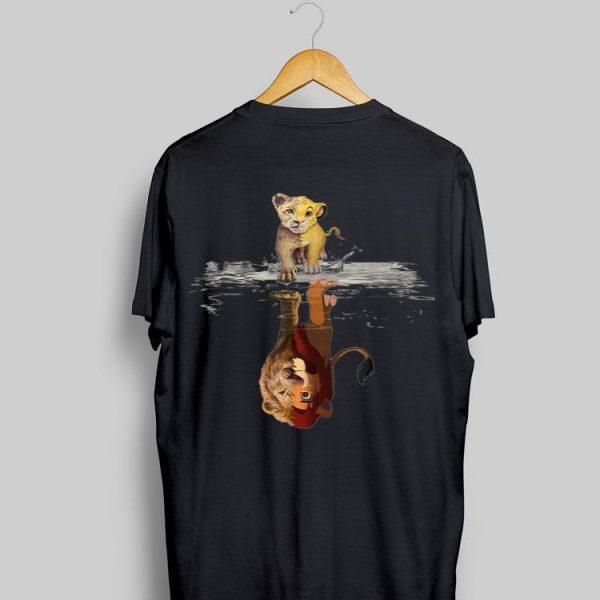 Disney Simba Lion King water mirror reflection Mufasa shirt