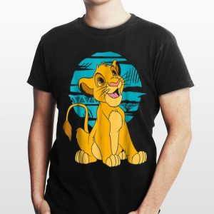 Disney The Lion King Young Simba Happy Blue Retro shirt