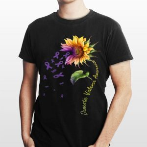 Domestic Vilolence Awareness Sunflower shirt