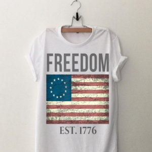 Freedom EST 1776 4th Of July Patriotic 13 Stars American Flag shirt