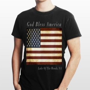 God Bless American Lake Of the Wood Va Usa Flag shirt