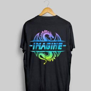 Imagine Fantasy Dragon Tattoo Retro shirt