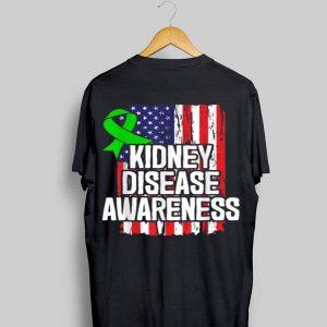 Kidney Disease Awareness American Flag shirt