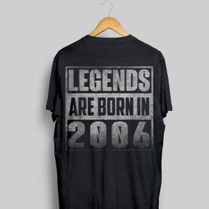 Legends Born In 2006 Straight Outta shirt
