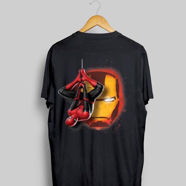 Marvel Spider-Man New Suit Far From Home Iron Man Head shirt
