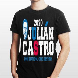 Mayor of San Antonio Julian Castro One Nation One Destiny shirt