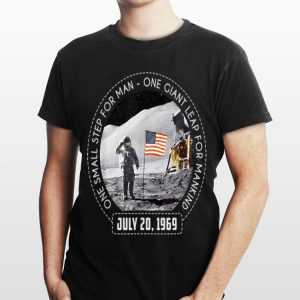 One Small Step For Man One Giant Leap For Mankind Austranaut American Flag shirt