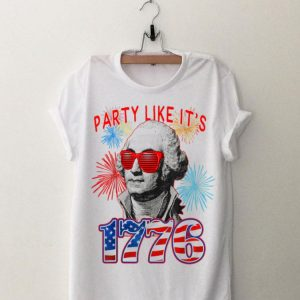 Party Like It Is 1776 4th of July George Washington Fireworks Sunglass Independence Day shirt