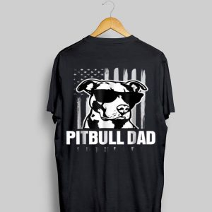 Pitbull Dad American Flag Sunglass shirt