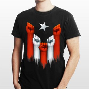 Puerto Rico Power of the people United fist shirt
