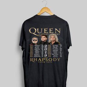 Queen Adam Lambert The Rhapsody Tour 2019 shirt