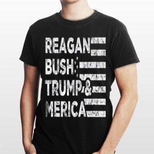 Reagan Bush Trump And Merica Falg shirt