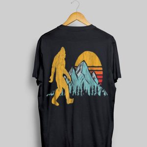 Retro Bigfoot Silhouette Mountain Sun shirt