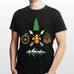 Scout Campfire Camp Hiking Compass Adventure Nature shirt