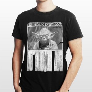 Star Wars Jedi Master Yoda Seagulls Poster Words Of Wisdom shirt