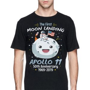 The First Moon landing Apollo 11 Cartoon Astronaut American Flag shirt