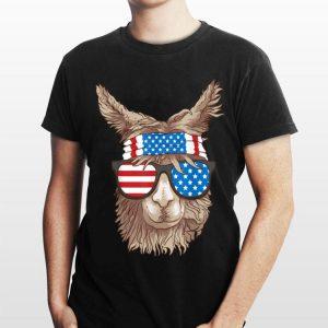 USA Sunglass Headband Patriotic Llama 4th Of July shirt