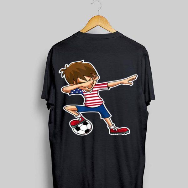 Usa Jersey Dabbing Soccer Boy shirt