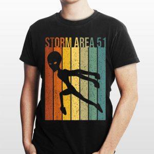 Vintage Alien Hunter Storm Area 51 shirt