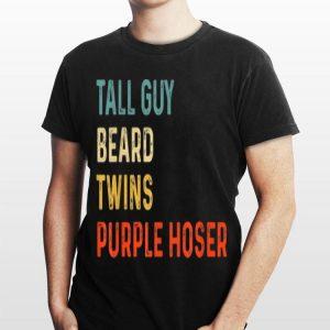 Vintage Tall Guy beard Twind Purple Hoser shirt