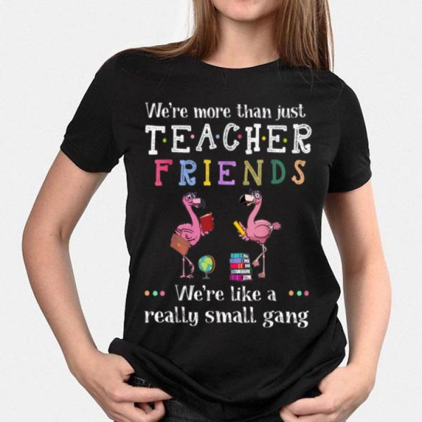 We're More Than Just Teacher Driends We're Like A Really Small Gang Flamingo shirt