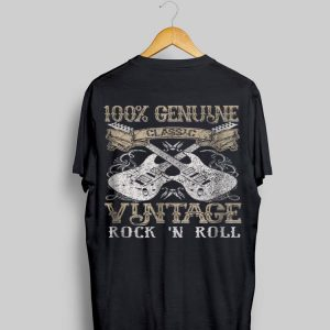 100% Genune Class Guitar Electric Vintage Rock N Roll shirt