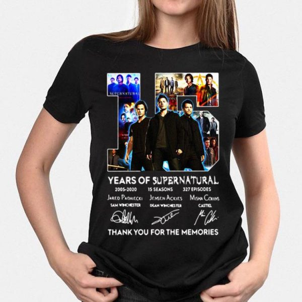 15 Years Of Supernatural Thank For The Memories Signature shirt