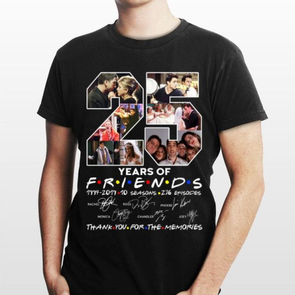 25 Years Of Friends Thank You For The Memories Signature shirt