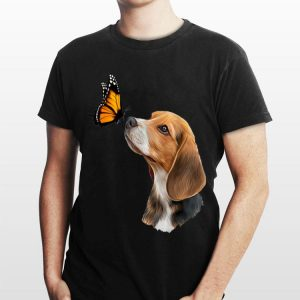 Beagle With Butterfly shirt