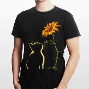 Cat You Are My Sunshine Sunflower shirt