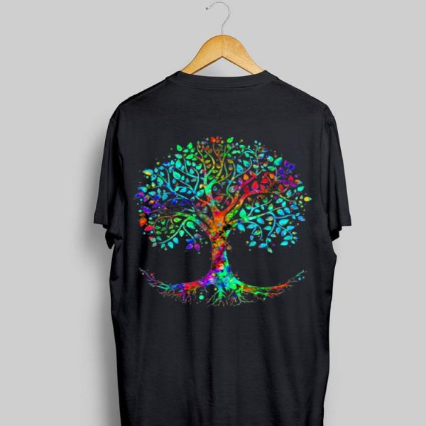 Colorful Life is really Good Vintage Tree Art shirt