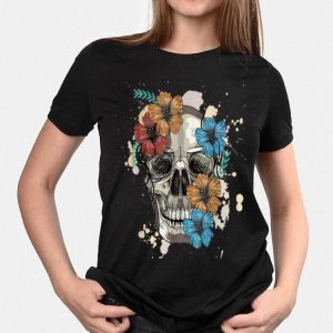 Colorful Skull and Flowers shirt