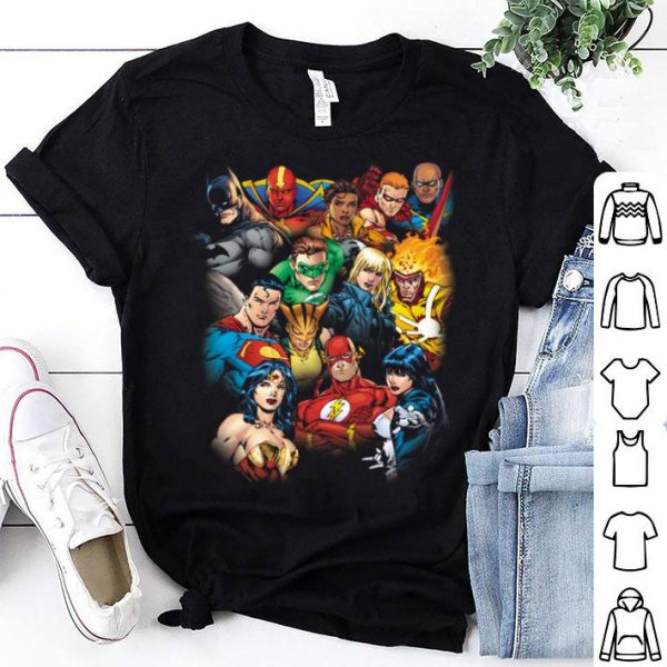 DC Justice League All Here shirt