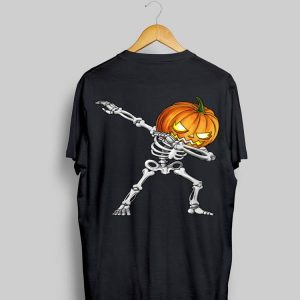 Dabbing Skeleton Pumpkin Halloween shirt