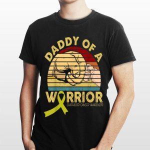 Daddy Of A Warrior Childhood Cancer Awareness Vintage shirt