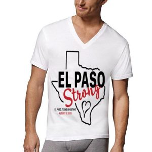 El paso strong texas shoothing august map shirt