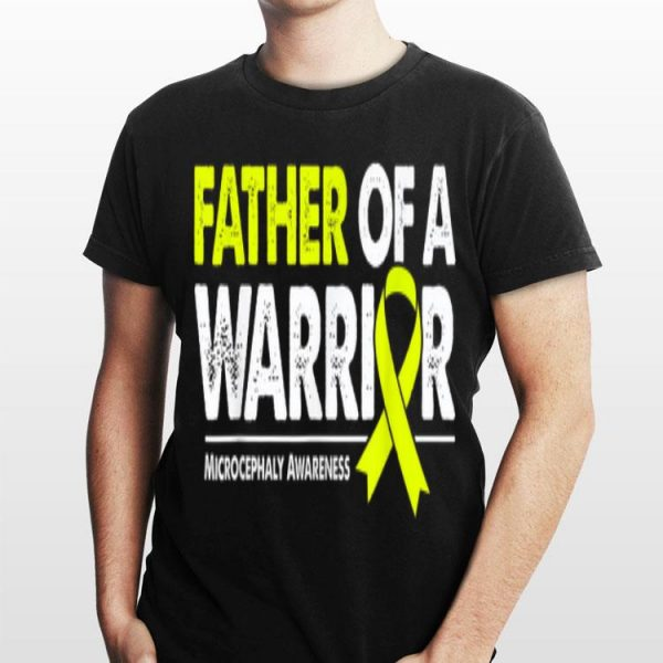 Father of a Warrior Yellow Ribbon Microcephaly Awareness shirt