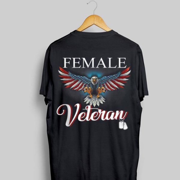 Female Veteran Eagle America shirt