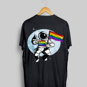 Gay Pride Flag LGBT Astronaut shirt