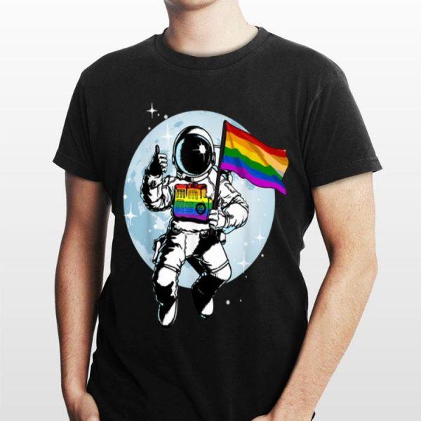 Gay Pride Flag LGBT Astronaut shirt