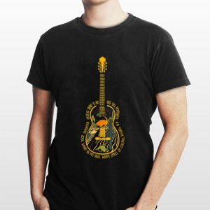 Guitar Hotel california On A Dark Desert Highway shirt