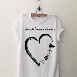 I am a simple woman cruise wine dog flip flops shirt