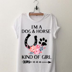 I'm a Dog and Horse Kind of Girl Paw Flower shirt