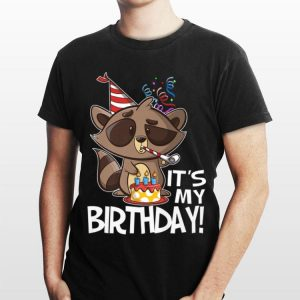 It's My Birthday Party Raccoon shirt