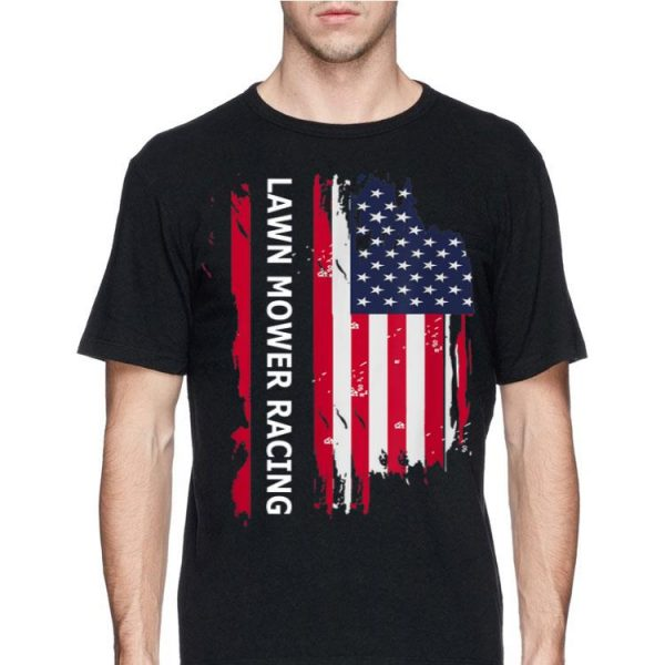 Lawn Mower Racing American Flag shirt