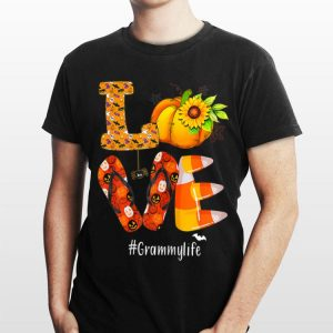 Love Grammylife Pumpkin Flip Flops Halloween shirt