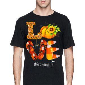 Love Grammylife Pumpkin Flip Flops Halloween shirt